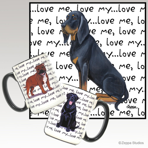 Black and Tan Coonhound Love Mug