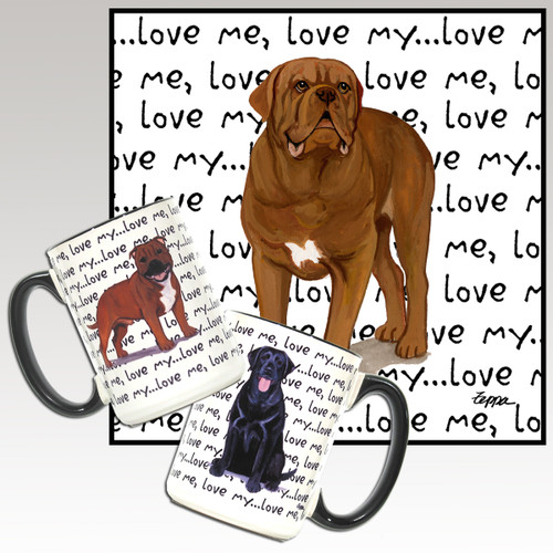 Dogue de Bordeaux Love Me Mugs