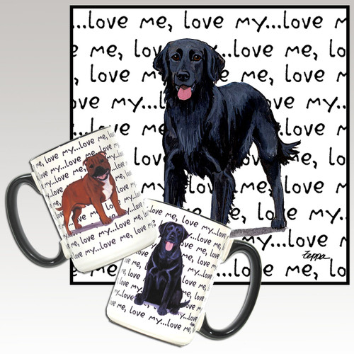 Flat Coated Retriever Love Me Mug