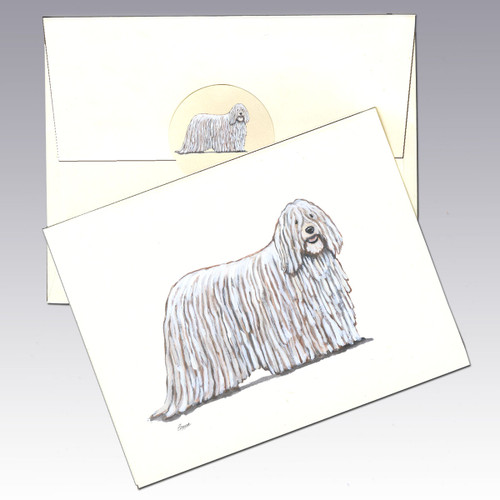 Komondor Note Cards
