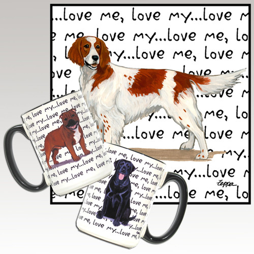 Red & White Irish Setter Love Me Mug