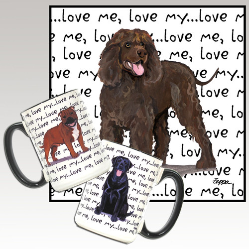 Irish Water Spaniel Love Me Mug