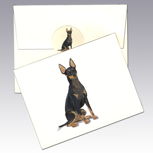 Toy Manchester Terrier Note Cards