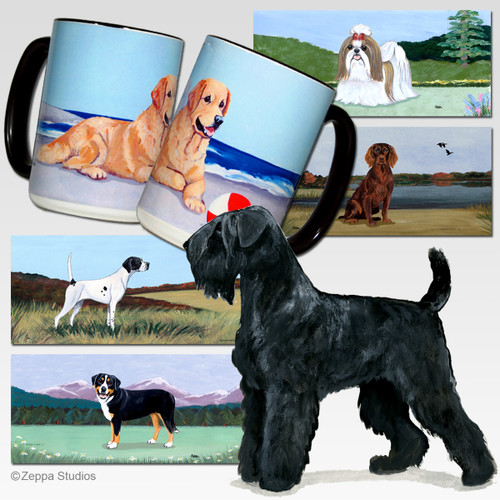 Black Russian Terrier Scenic Mug