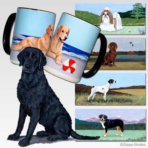 Curly Coated Retriever Scenic Mug