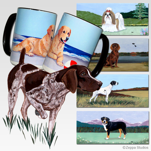 German Shorthair Pointer Scenic Mug