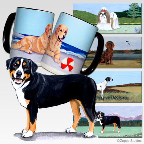 Greater Swiss Mtn Dog Scenic Mug