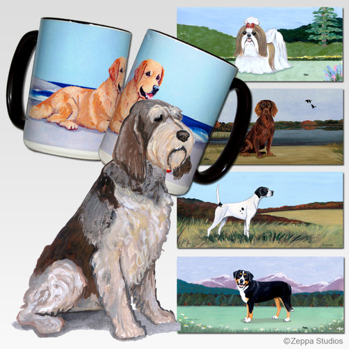 Red & White Italian Spinone Scenic Mug