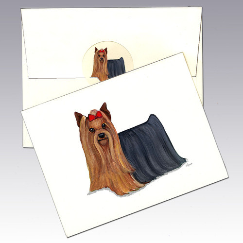 Yorkshire Terrier Note Cards