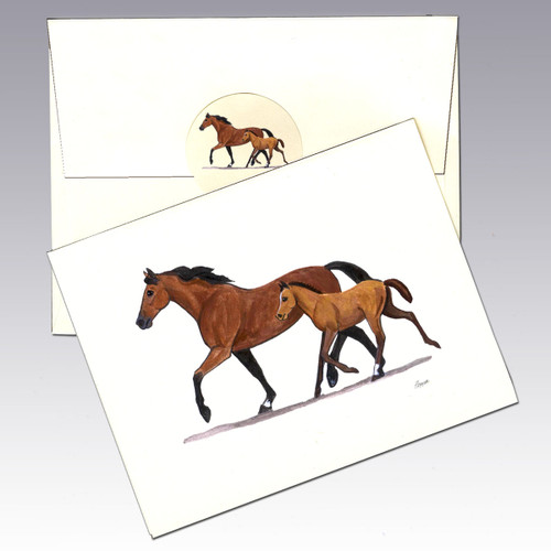 Mare & Foal Note Cards