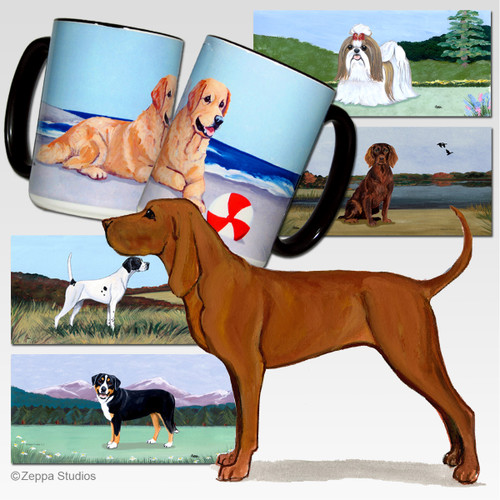 Redbone Coonhound Scenic Mug - Rectangle