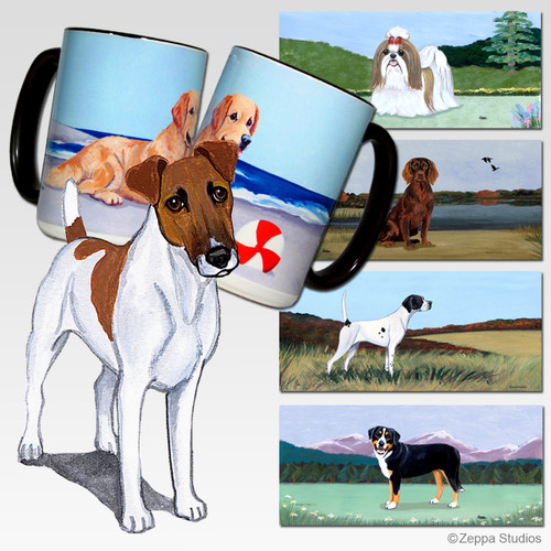 Smooth Fox Terrier Scenic Mug - Rectangle