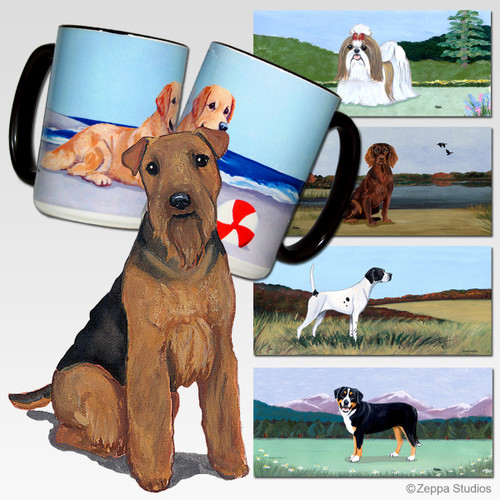 Welsh Terrier Scenic Mug - Rectangle