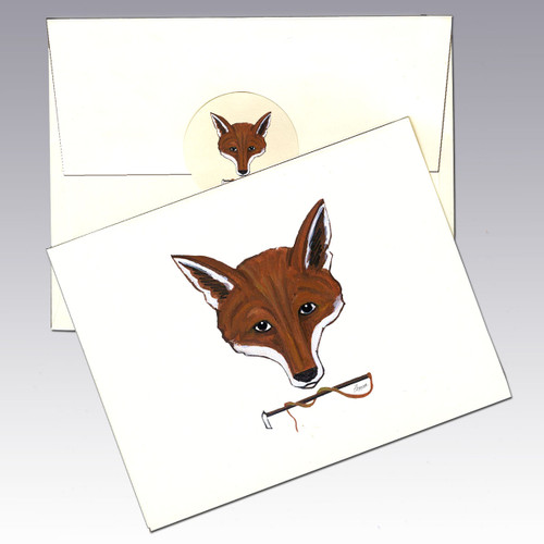 Fox Mask Note Cards