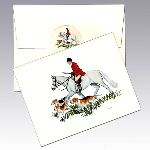 Hunt Scene Side View Note Cards