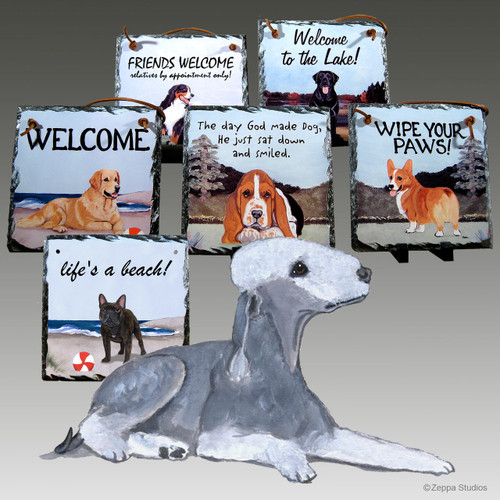 Bedlington Terrier Slate Signs