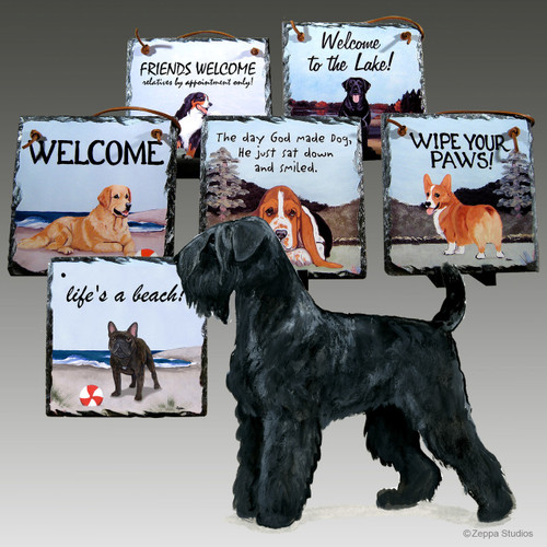 Black Russian Terrier Slates