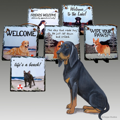 Black and Tan Coonhound Slates