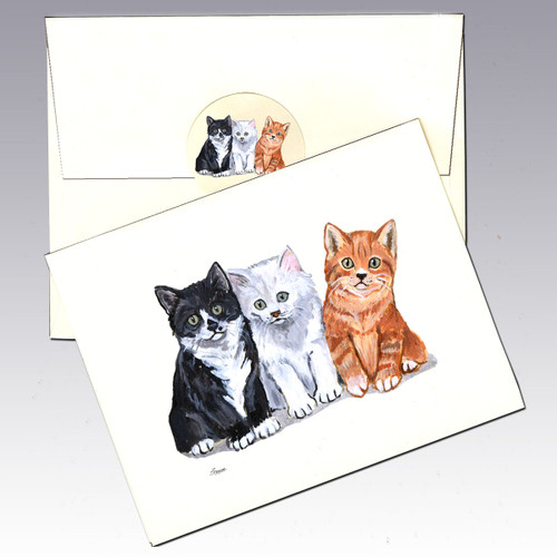 3 Kittens Note Cards