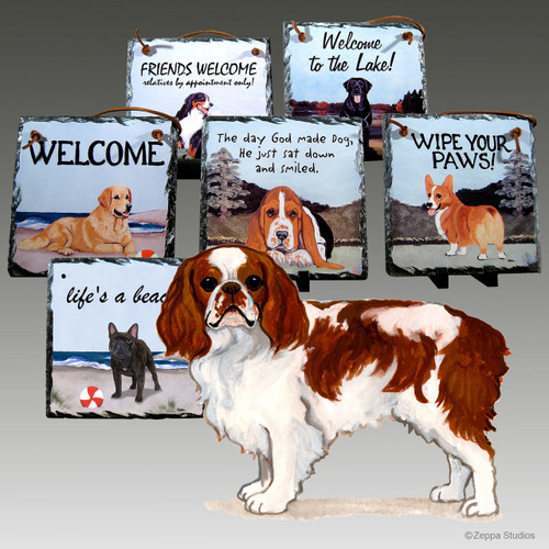 English Toy Spaniel Slate Signs