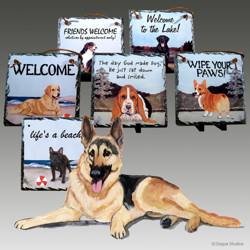 German Shepherd Slate Signs