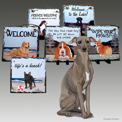 Italian Greyhound Slate Signs