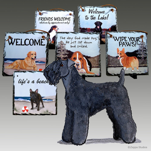 Kerry Blue Terrier Slate Signs