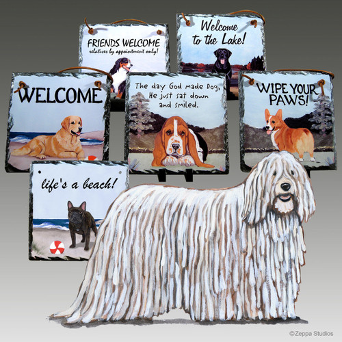 Komondor Slate Signs