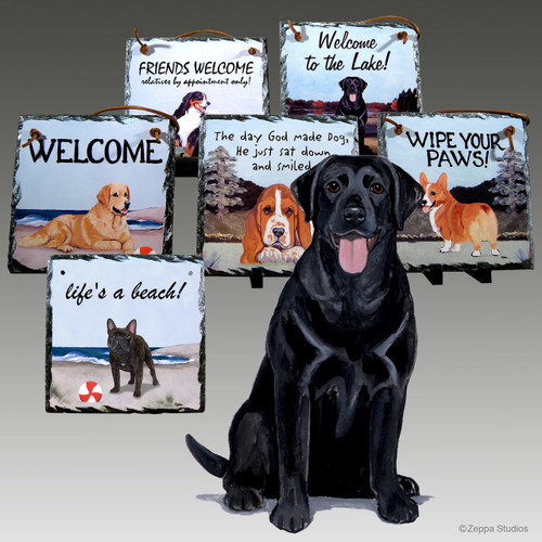 Black Lab Slate Signs