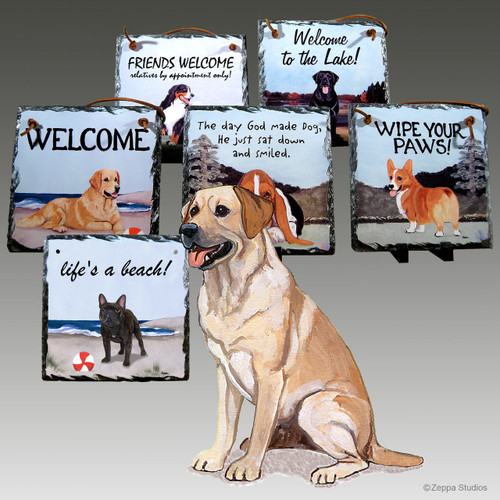 Yellow Lab Slate Signs