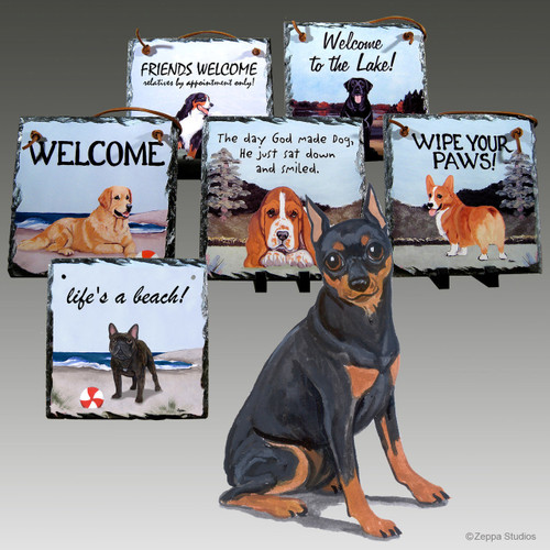Miniature Pinscher Slate Signs