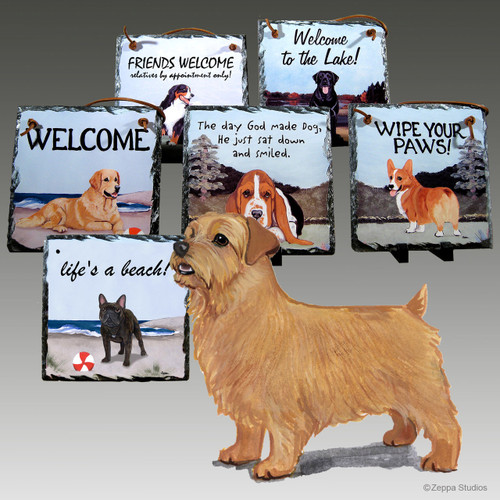 Norfolk Terrier Slate Signs