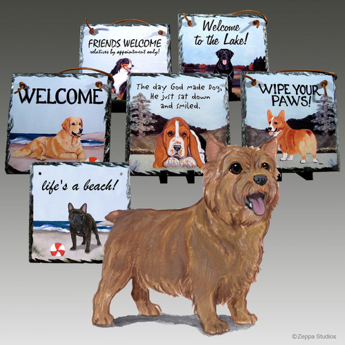 Norwich Terrier Slate Signs