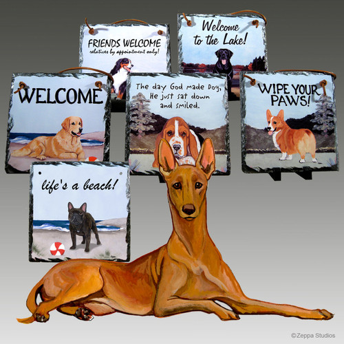 Pharaoh Hound Slate Signs