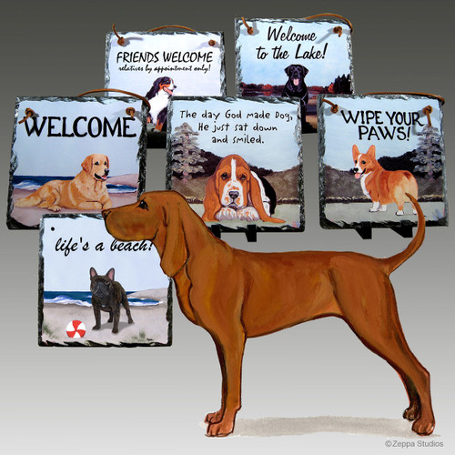Redbone Coonhound Slate Signs