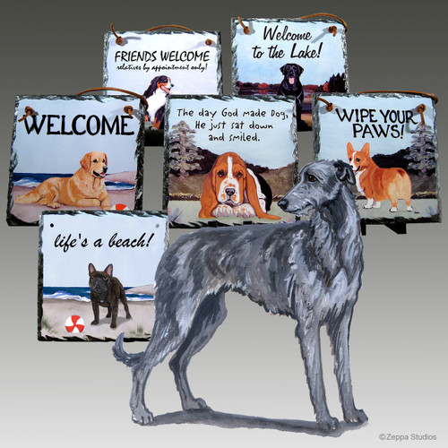 Scottish Deerhound Slate Signs