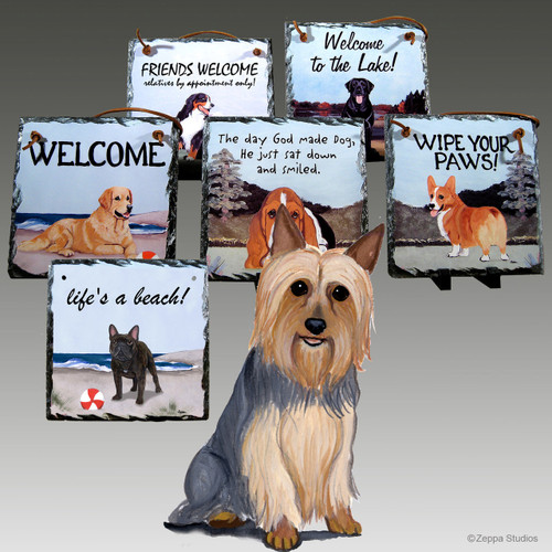 Silky Terrier Slate Signs