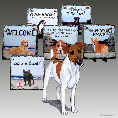 Smooth Fox Terrier Slate Signs