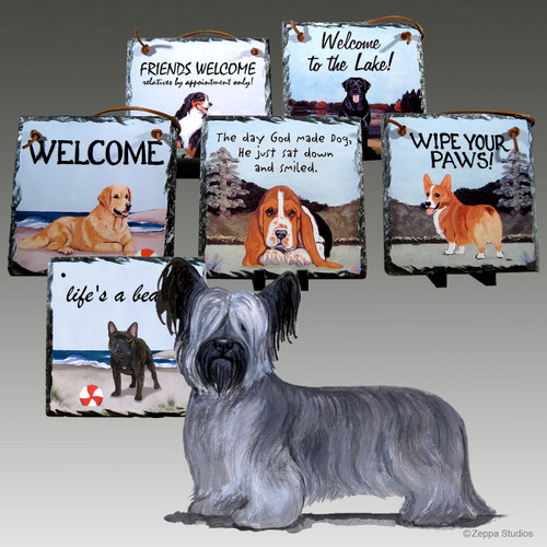 Skye Terrier Slate Signs