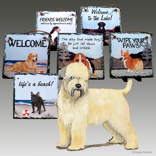 Wheaten Terrier Puppy Slate Signs