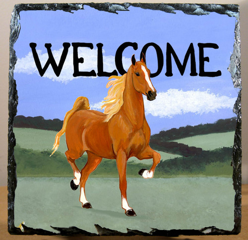 Saddlebred Horse Slate Signs