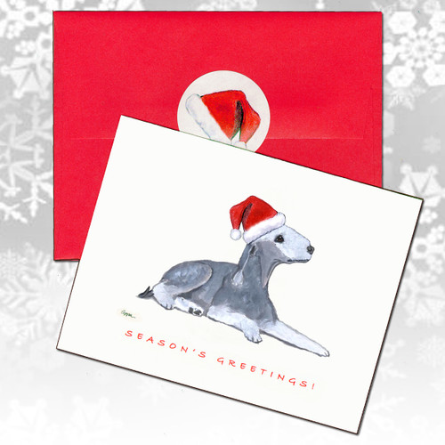 Bedlington Terrier Christmas Cards