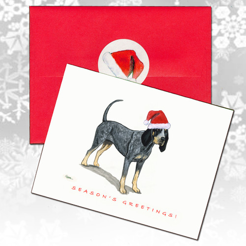 Bluetick Coonhound Christmas Cards