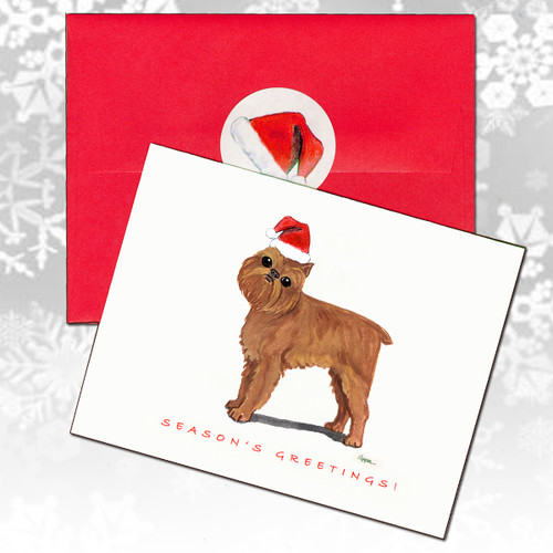 Brussels Griffon Christmas Cards