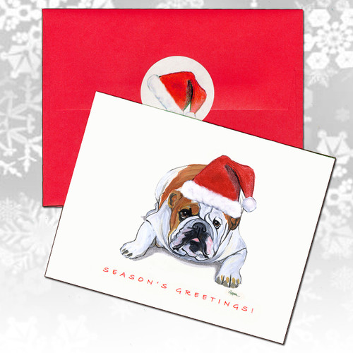 Bulldog Christmas Cards