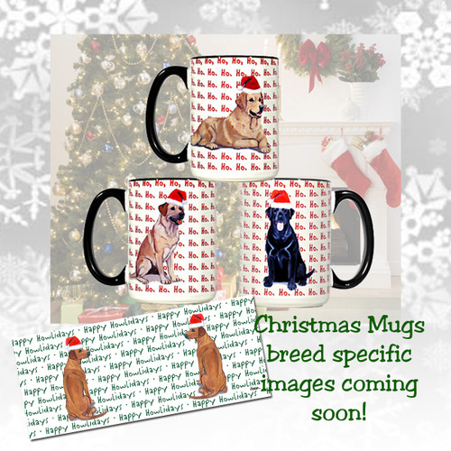 Bearded Collie Christmas Mugs