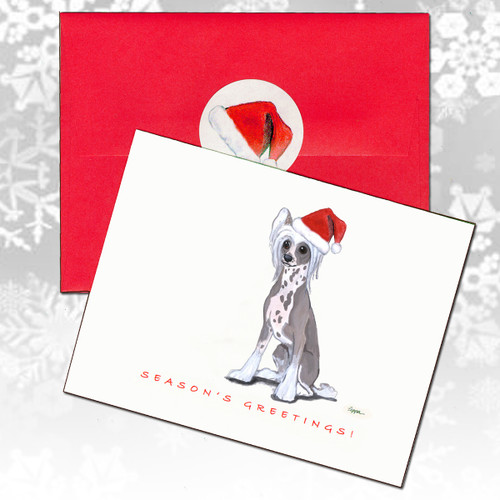 Chinese Crested Chrismas Cards