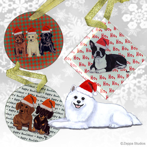 American Eskimo Dog Christmas Ornament