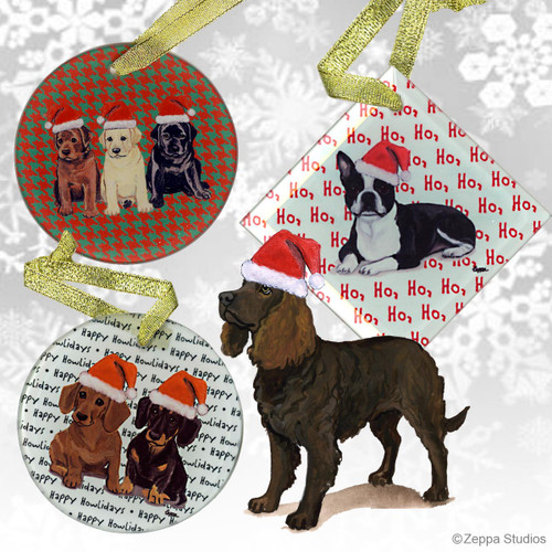 American Water Spaniel Christmas Ornament