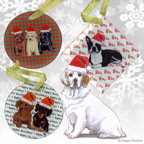 Clumber Spaniel Christmas Ornament